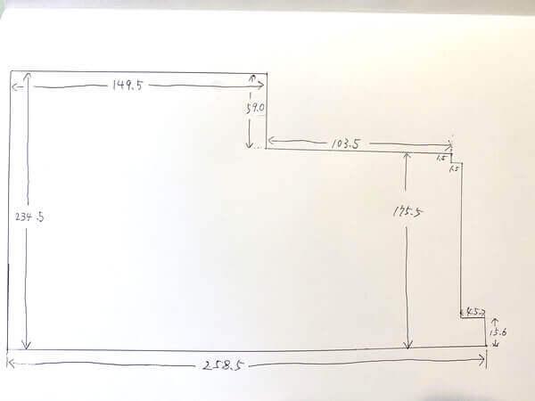 ご注文の手書き図面