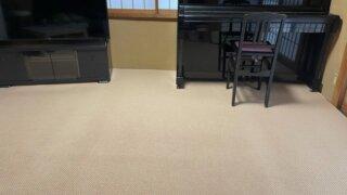 和室に馴染むカラーとテクスチャ!畳の上に敷いたカーペット