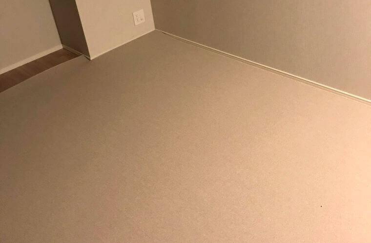 細かいサイズ調整が可能な薄手のカーペット