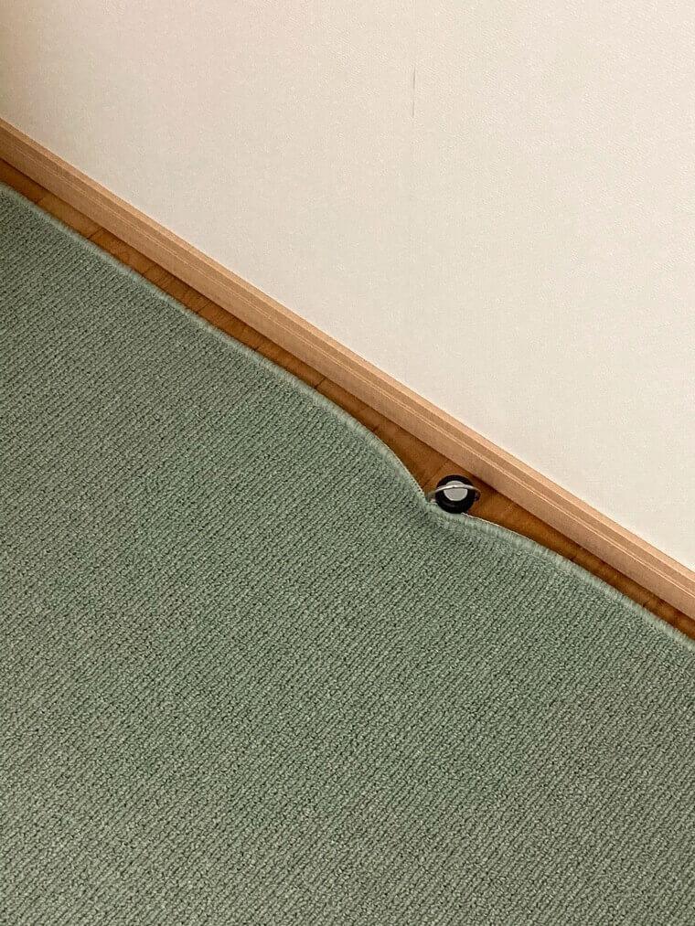 グリーン系のカーペット