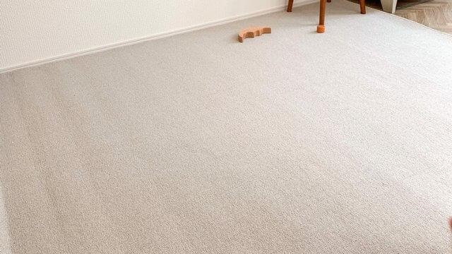ストレス解消!カーペットで床の傷を防止