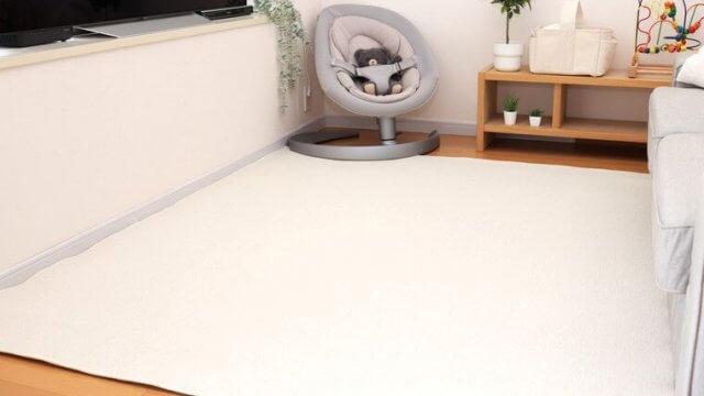 ホワイト系の防音仕様カーペットでお部屋がパッと明るく!