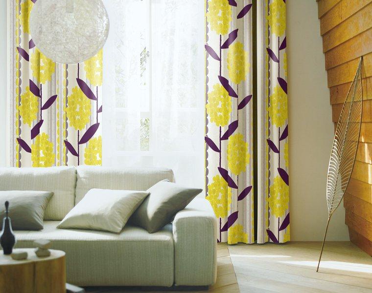 ウォッシャブルカーテン「ABIGAIL/アビゲイル」は洗える形状記憶の一歩先行くレトロなデザイン
