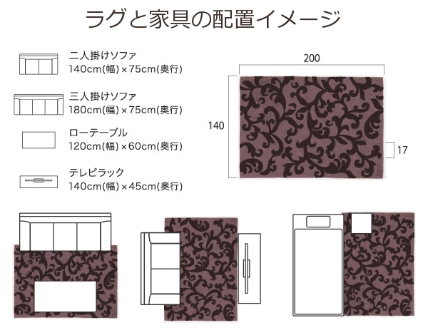 家具の配置イメージ