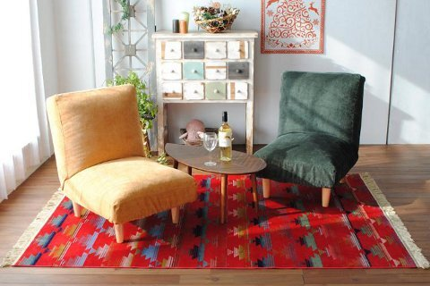 平織りラグ『CUTE/キュート』の商品画像