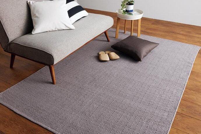 コットンラグマット「GIONIC/ジオニック」はシックなカラーリングで仕上げた平織りタイプ