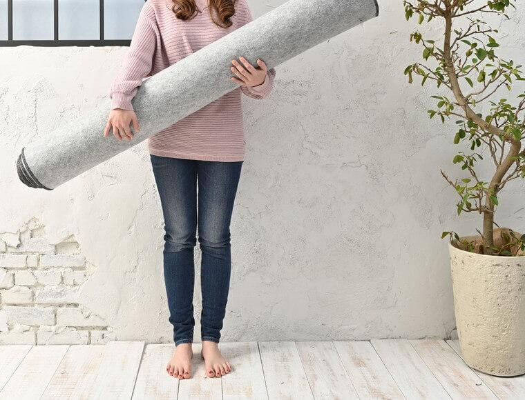 130×190cmの大きさで約4.6kgの重量