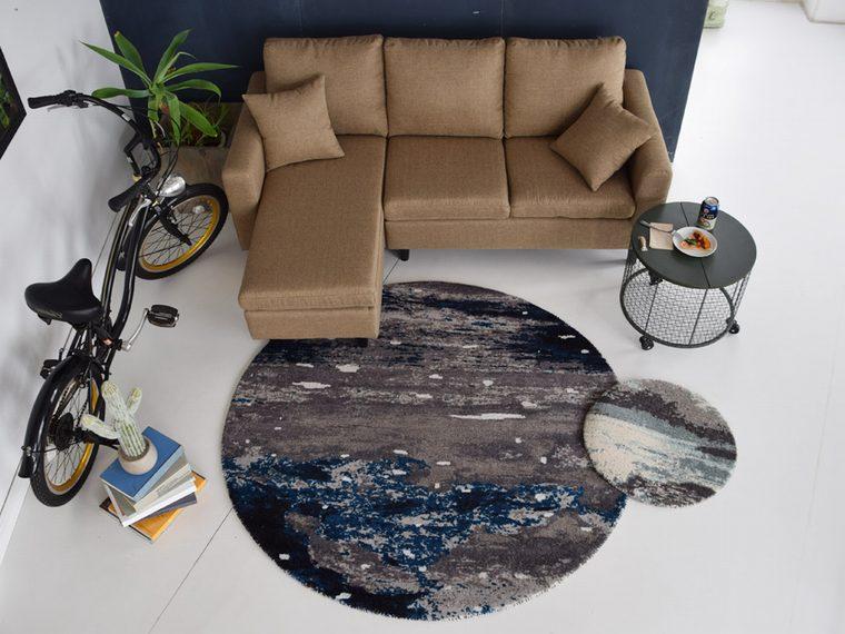 円形ラグ・カーペット・マット「PLANET/プラネット」は子供部屋にも使える!惑星をイメージさせるカジュアルなデザイン