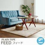 無地 洗えるシャギー【4サイズ×4カラー】 ラグ『FEED/フィード』の商品画像
