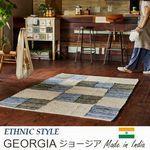 オールシーズンタイプ チェック柄【3サイズ】 ラグ『GEORGIA/ジョージア』の商品画像