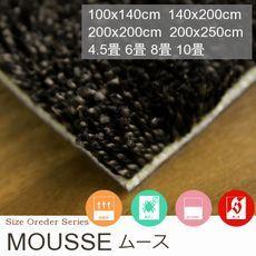 【2色×2タイプ】防汚・防音のシャギータイプ カーペット『MOUSSE/ムース』の商品画像