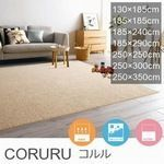 【7サイズ・5カラー】遊び毛防止・洗える ラグ『CORURU/コルル』の商品画像