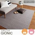 綿100% 平織り グレー インド製 ラグ『GIONIC/ジオニック』の商品画像