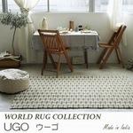 綿100%の素朴なキリム・ギャッベデザイン ラグ『UGO/ウーゴ』の商品画像