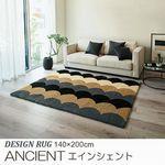 モダン系 シャギータイプ ラグ『ANCIENT/エインシェント』の商品画像