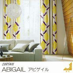 【2カラー】遮光2級 レトロ風花柄カーテン『ABIGAIL/アビゲイル』の商品画像