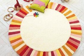 円形ラグマット「PASTEL/パステル」はコサージュのような雰囲気!丸型タイプの優しい暖色カラー