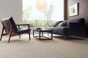汚れに強いカーペット「RIZIN/ライジン」はペット臭やホルムアルデヒドも消臭!家族が集まるリビングに最適
