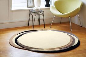 円形ラグマット「BARISTA/バリスタ」はクリーミーな甘い香りが漂うオシャレなサークルタイプ