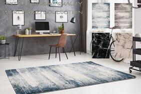 トルコ製ラグ・カーペット「DEAN/ディーン」は床の印象がガラリと変わる!味わい深い抽象的なモダンテイスト