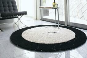 円形ラグマット「EYES/アイズ」はエグゼクティブな雰囲気が漂う大人のデザイン