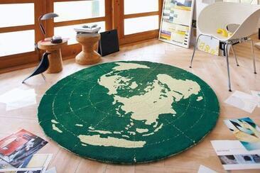 148cm×148cm円形ラグ「EARTH/アース」