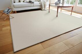 ウール100%ラグ・カーペット「WOOL LINE/ウールライン」は自然の中でくつろぐ雰囲気に仕上げた平織りタイプ