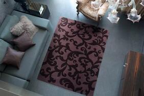 フック織りラグマット「ARBESQE/アラベスク」はクラシックな唐草模様を表現したエレガントな1枚