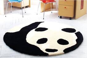 ラグマット「PANDA/パンダ」はふわふわシャギーが気持ちいい心も和むパンダ柄