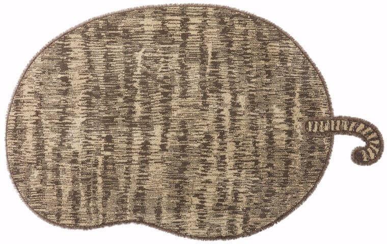 130×185cm ブラウン