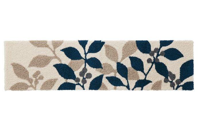 キッチンマット「PLANT/プラント ミニ」は左右に大きく広がる美しくエレガントなリーフ柄