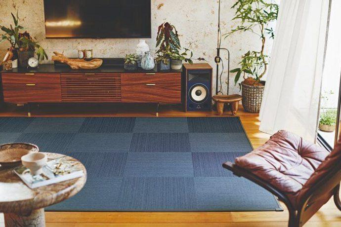 平織りタイルカーペット「GLANZ/グランツ」は手軽に畳気分を味わえる!新しいスタイルの和洋折衷なデザイン