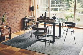 消臭タイルカーペット「NEEL/ニール」は「和」を味わうシックな和風デザイン!美しい絣(かすり)を表現