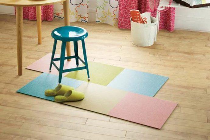 タイルカーペット「RIPPLE/リップル」は軽量でクッション性が抜群なので子供部屋やキッズルームに推薦