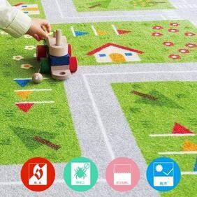 キッズロード 幼児育成タイルカーペットの商品生地画像