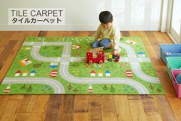 40×40cmキッズタイプタイルカーペット「キッズロード」